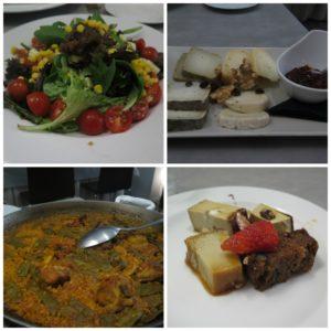 Il Menù gustato al ristorante La Cigrona Valencia