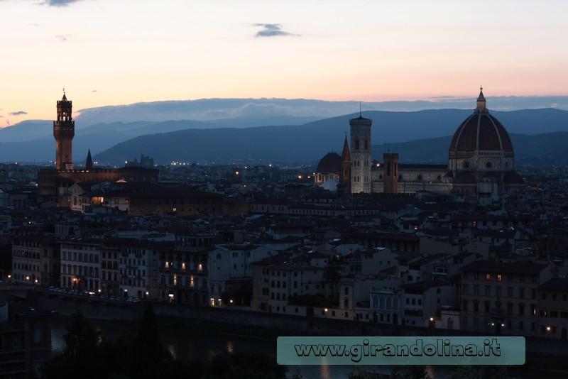 La città di Firenze al tramonto