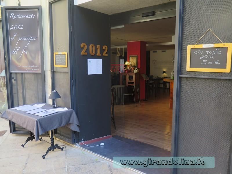Ristorante 2012, El Pincipio del Fin Valencia