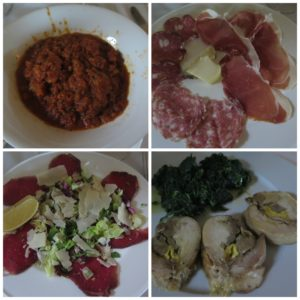 Il nostro menù al ristorante di Villa La Borghetta