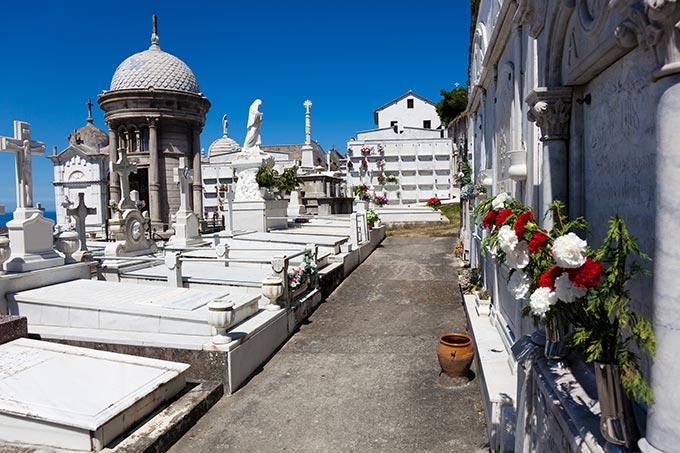 Luarca cemetery Asturias(ph skyscanner)