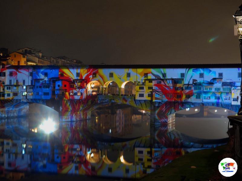 F-Light Firenze Light Festival 2016 Ponte Vecchio