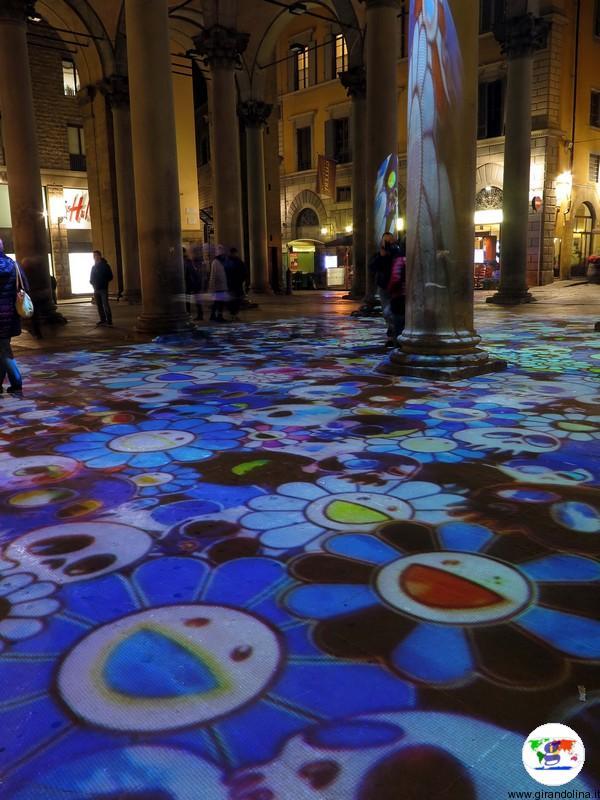 F-Light Firenze Light Festival 2016 Loggia del Porcellino