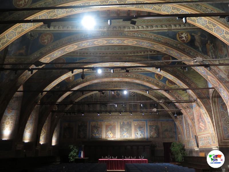 Sala dei Notari all' interno del Palazzo dei Priori di Perugia