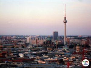 Berlino al tramonto veduta dal Panorama Punkt