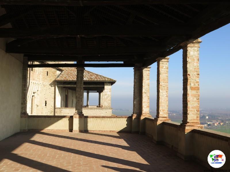 Castello di Torrechiara la terrazza panoramica