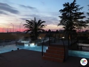 Le piscine dell' Asmana di Firenze al tramonto