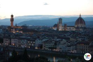 Firenze al tramonto veduta dal Piazzale Michelangelo