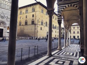 Piazza Duomo Pistoia, Toscana, Italia