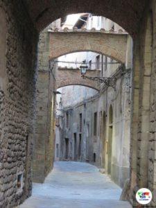 Strade medioevali di Pistoia, Toscana, Italia