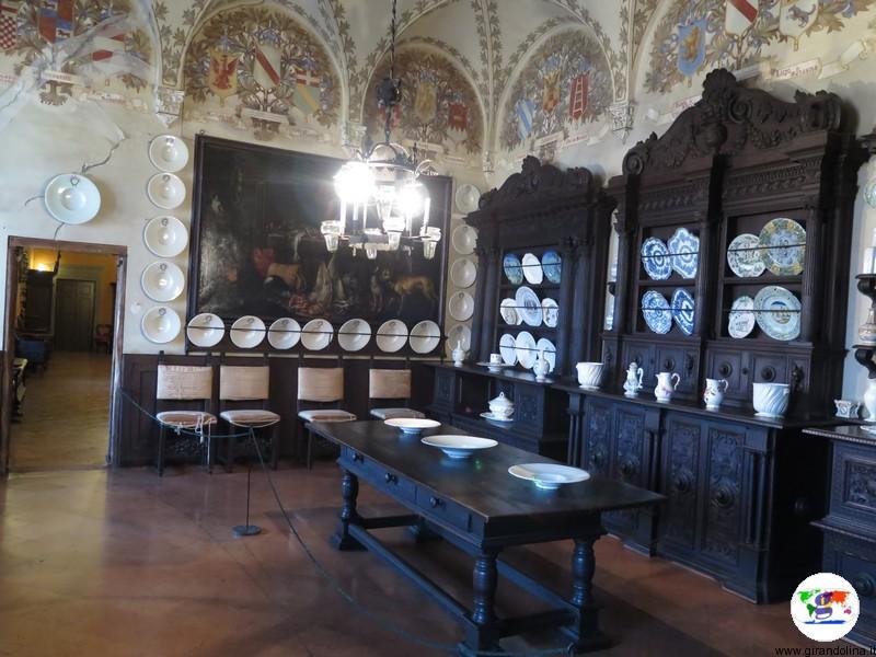 Rocca Sanvitale di Fontanellato, sala da pranzo