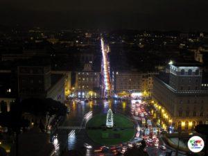 Roma Piazza Venezia durante le festività natalizie