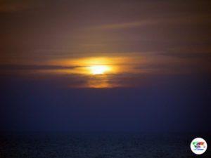 Il tramonto sul mare della Sardegna