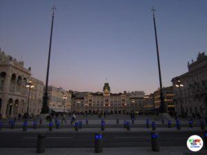 Trieste ,Piazza Unità d'Italia al tramonto