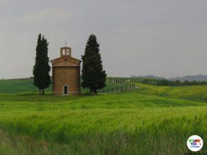 Cappella Vitaleta, Val d'Orcia Toscana