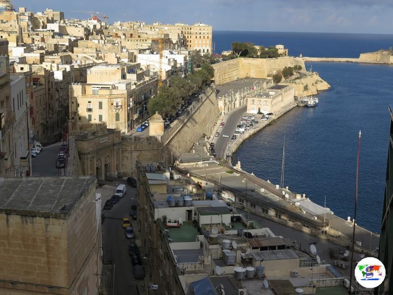 La Valletta, Anton Street vista dall 'alto