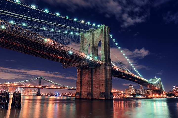 Brooklyn bridge in New York City (ph sky scanner)