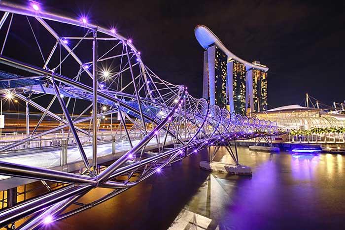 Ponte Hélix, Marina Bay, Singapore (ph skyscanner)