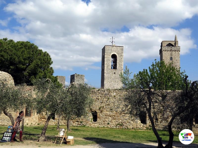 San Gimignano, la Rocca di Montestaffoli