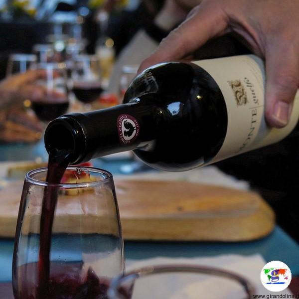 Uno dei vini provati nella nostra degustazione