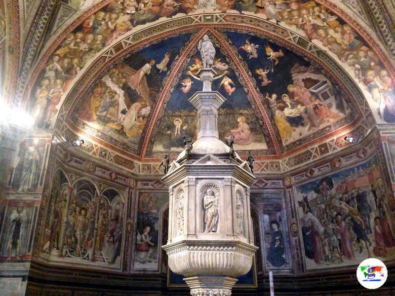 Siena, il Fonte Battesimale del Battistero
