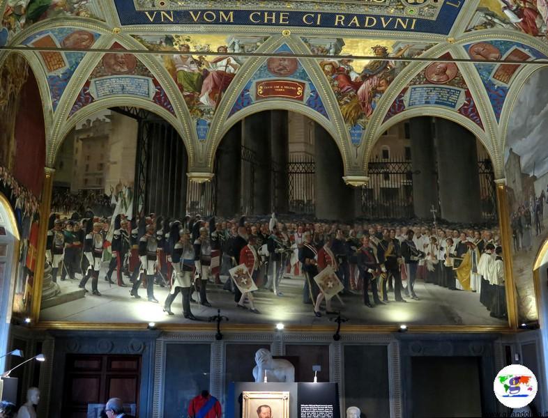 Siena, Museo Civico, la Sala del Risorgimento