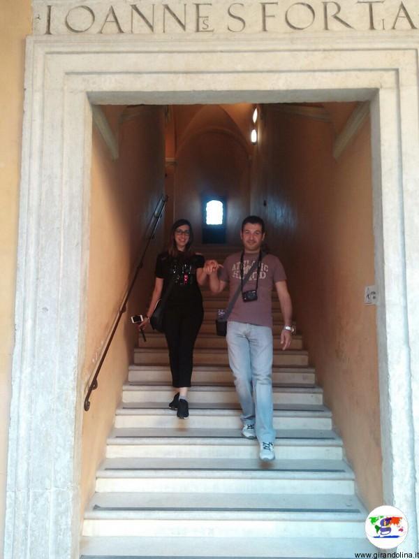 Il Castello di Gradara, lo Scalone di Giovanni Sforza