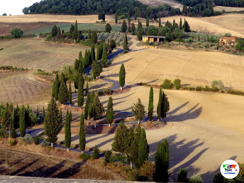 La strada panoramica di Monticchiello