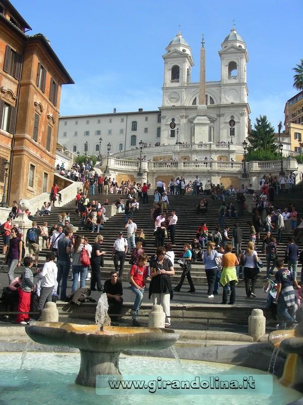 Location cinematografiche- Roma- Piazza di Spagna