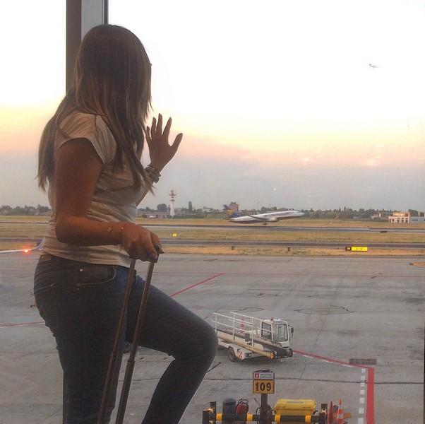 Girandolina all' aeroporto in partenza... ma per dove?