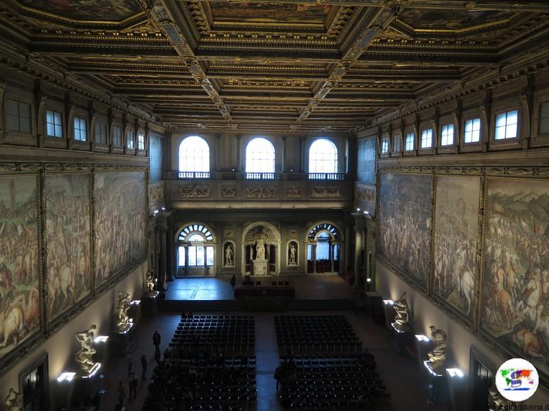 Salone dei Cinquecento all'interno di Palazzo Vecchio