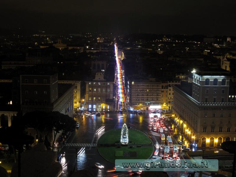 Alberi di natale italiani : L'albero di Natale in Piazza Venezia a Roma
