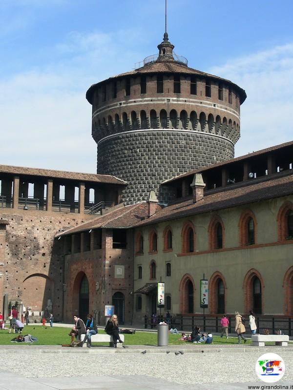 Milano , il Castello Sforzesco