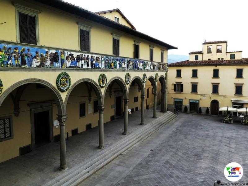 Monastero di San Mercuriale di Pistoia, Sala Capitolare e veduta dell'Ospedale del Ceppo