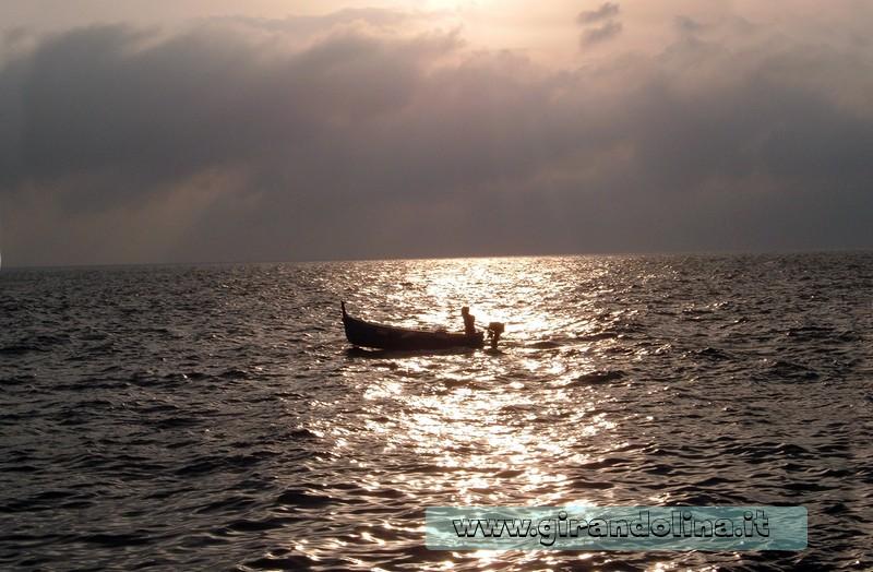 Tramonto sul mare delle Cinque Terre