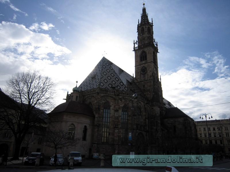 Il Duomo di Bolzano, in Piazza Walther