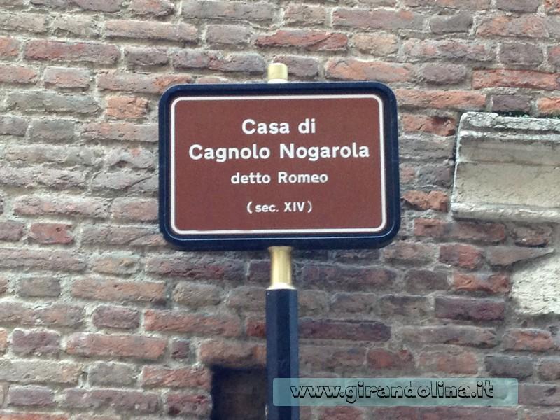 Verona . Casa di Romeo