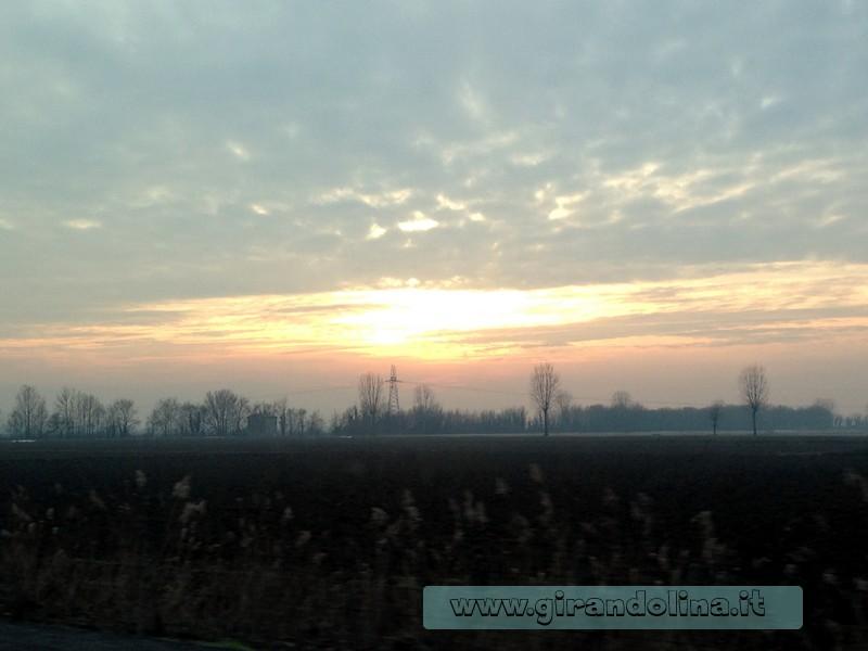 Il tramonto, sulla via del ritorno a casa