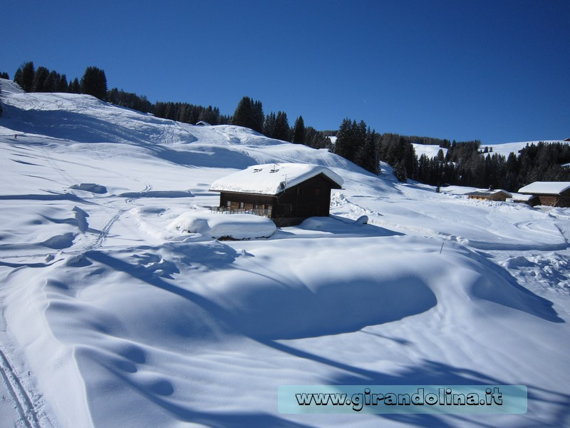 Il bellissimo panorama delle Dolomiti