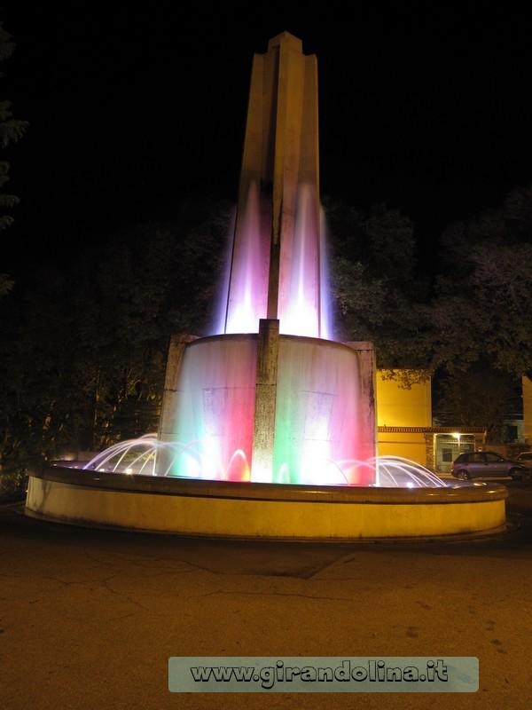 Fontana tricolore, nel Parco della Rimembranza