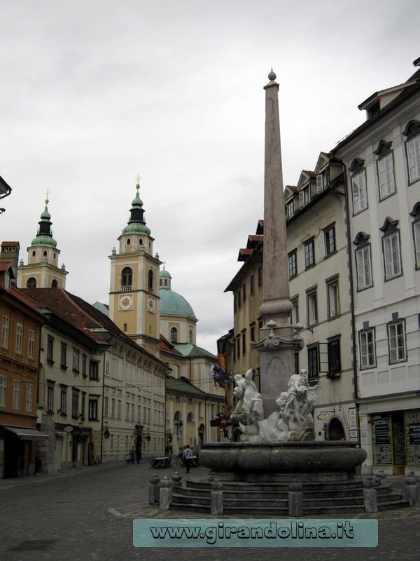 La Fontana dei Fiumi Carniolani Lubiana Slovenia