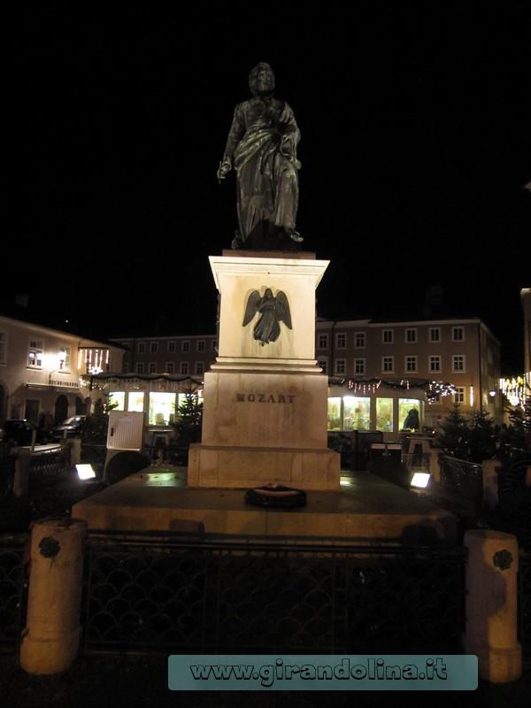 La Statua dedicata a Mozart, nella sua omonima piazza