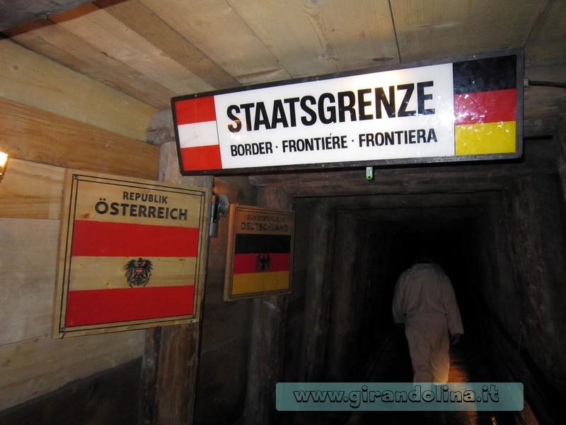 Miniere di HalIein - il confine fra Austria e Germania, nel sottosuolo della miniera