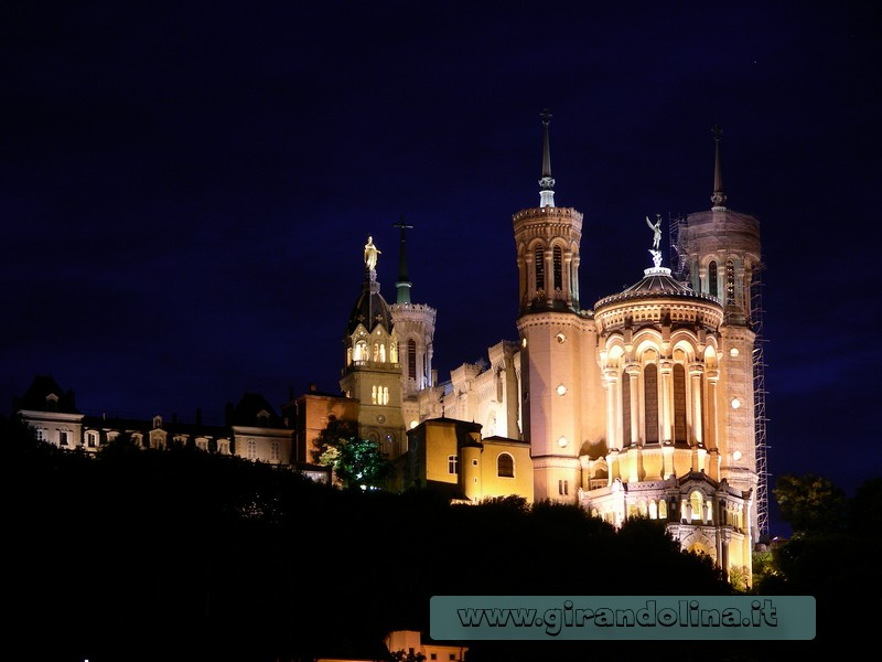 La bellissima chiesa Notre-Dame de Fourvière