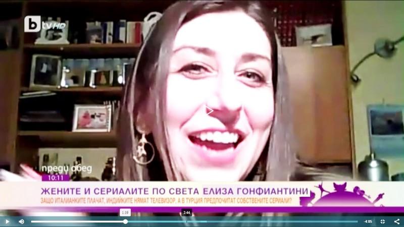 La nostra seconda intervista per la prima emittente televisiva bulgara