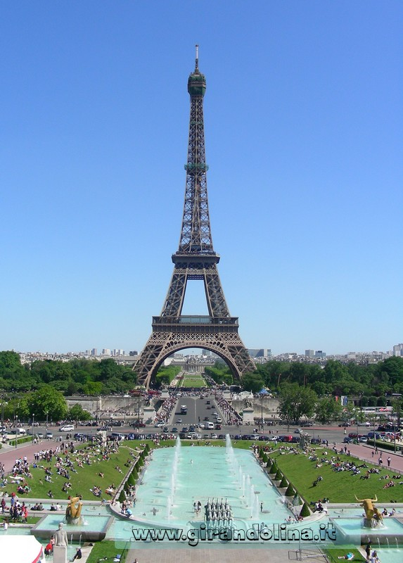 La Torre Eiffel vista dal Trocadero