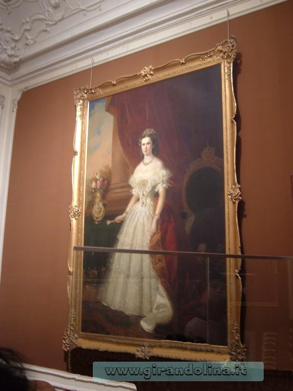 Ritratto della Principessa Sissi, all' interno del Castello