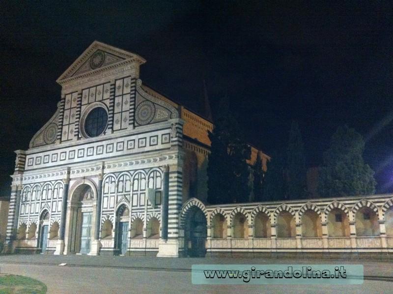 Basilica di Santa Maria Novella in notturna