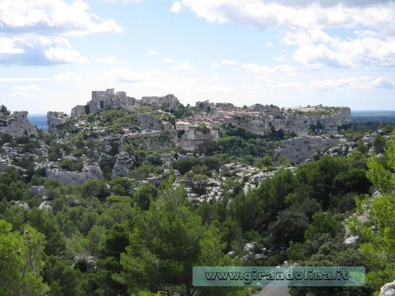 La veduta di Les Baux de Provence, dal punto panoramico