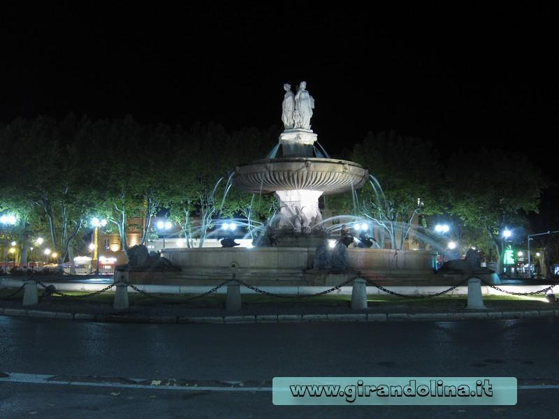 La Fontaine de la Rotonde di Aix En Provence